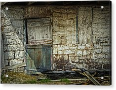 Barn Door Acrylic Print by Joan Carroll