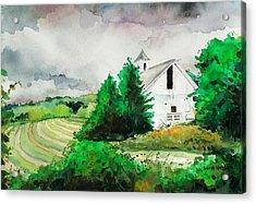 Barn Storm Acrylic Print by Scott Nelson
