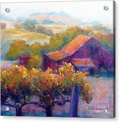 Barn Vineyard Acrylic Print by Carolyn Jarvis
