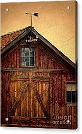 Barn With Weathervane Acrylic Print by Jill Battaglia