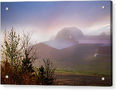 Barns In The Morning Light Acrylic Print by Debra and Dave Vanderlaan
