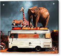 Barnum And Bailey Goes On A Road Trip 5d22705 Acrylic Print by Wingsdomain Art and Photography