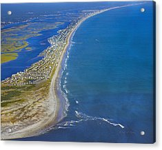 Barrier Island Aerial Acrylic Print by Betsy C Knapp