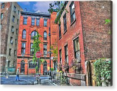 Barrow Street Stroll Acrylic Print by Randy Aveille