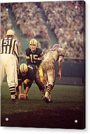 Bart Starr Looks Calm Acrylic Print by Retro Images Archive