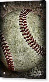 Baseball - A Retired Ball Acrylic Print by Paul Ward
