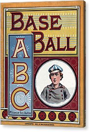 Baseball Abc Acrylic Print by McLoughlin Bros