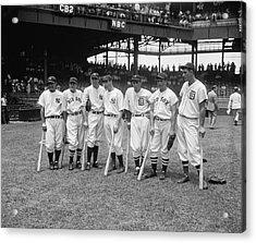 Baseball All Star Sluggers Acrylic Print by Underwood Archives