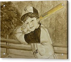 Baseball At It's Best Acrylic Print by Kelly Mills