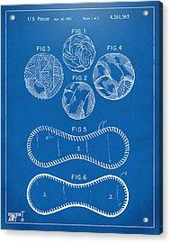 Baseball Construction Patent - Blueprint Acrylic Print by Nikki Marie Smith
