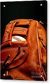 Baseball Glove With Ball Acrylic Print by Danny Hooks