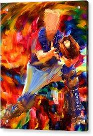 Baseball II Acrylic Print by Lourry Legarde