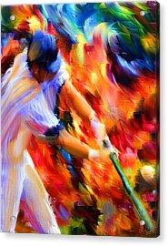 Baseball IIi Acrylic Print by Lourry Legarde