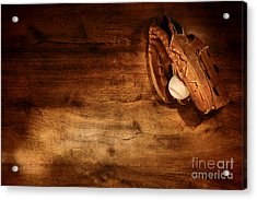 Baseball Acrylic Print by Olivier Le Queinec