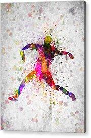 Baseball Player - Pitcher Acrylic Print by Aged Pixel