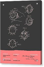 Baseball Training Device Patent From 1963 - Gray Salmon Acrylic Print by Aged Pixel