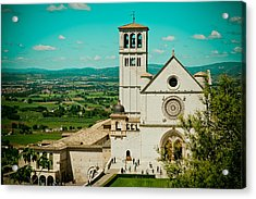 Basilica Of San Francesco Assisi  Acrylic Print by Raimond Klavins