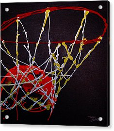 Basketball Acrylic Print by Tracey Bautista