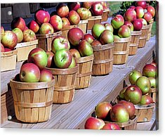 Baskets Of Apples Acrylic Print by Janice Drew