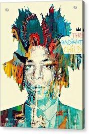 Basquiat The Radiant Child Acrylic Print by Jessica Echevarria