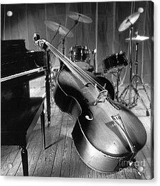Bass Fiddle Acrylic Print by Tony Cordoza