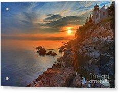 Bass Harbor Sunset Acrylic Print by Adam Jewell