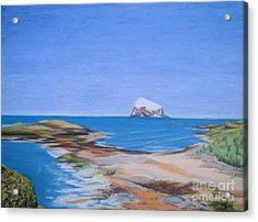 Bass Rock North Berwick Acrylic Print by Yvonne Johnstone