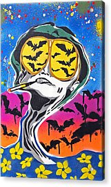 Bat Country Acrylic Print by Victor Cavalera