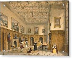 Bat Game In The Grand Hall, Parham Acrylic Print by Joseph Nash