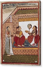 Bath Of An Indian Princess Acrylic Print by Everett