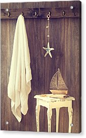 Bathroom Interior Acrylic Print by Amanda Elwell