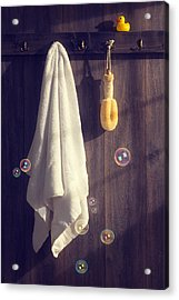 Bathroom Towel Acrylic Print by Amanda And Christopher Elwell