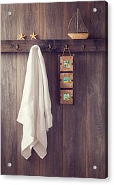 Bathroom Wall Acrylic Print by Amanda Elwell