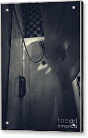 Bathtub In A Period Bathroom Acrylic Print by Edward Fielding