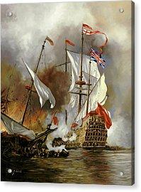 Battaglia Sul Mare Acrylic Print by Guido Borelli