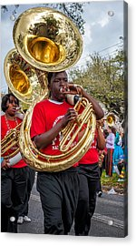 Battered Tuba Blues Acrylic Print by Steve Harrington