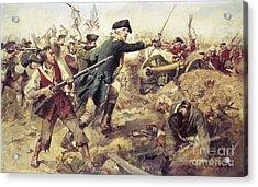 Battle Of Bennington Acrylic Print by Frederick Coffay Yohn