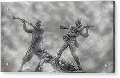 Battle Of Gettysburg 150 Blue And The Gray Acrylic Print by Randy Steele