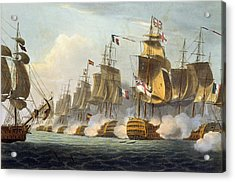 Battle Of Trafalgar Acrylic Print by Thomas Whitcombe