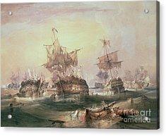 Battle Of Trafalgar Acrylic Print by William John Huggins