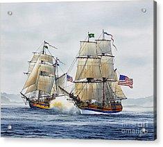 Battle Sail Acrylic Print by James Williamson