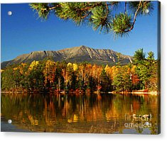 Baxter Fall Reflections  Acrylic Print by Alana Ranney
