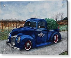 Baxter Truck Acrylic Print by Stacey Pilkington-Smith