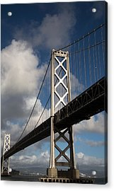 Bay Bridge After The Storm Acrylic Print by John Daly