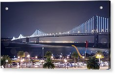 Bay Bridge Grand Lighting Ceremony Acrylic Print by David Yu