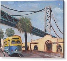 Bay Bridge Acrylic Print by James Lopez