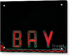 Bay In Neon  Acrylic Print by Kris Hiemstra