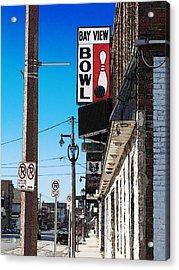 Bay View Bowl Acrylic Print by David Blank