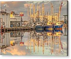 Bayou La Batre' Al Shrimp Boat Reflections 39 Acrylic Print by Jay Blackburn