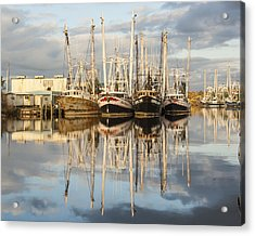 Bayou Labatre' Shrimp Boat Reflections 22 Acrylic Print by Jay Blackburn